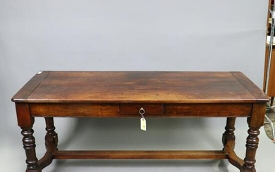 French Farm Table with a Drawer in Cherry