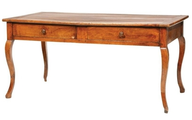 French Provincial Carved Walnut Dining Table
