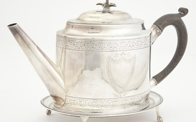 George III Sterling Silver Teapot on Stand