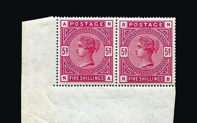 Great Britain - QV (surface printed) : (SG 181) 1883-84 5s c...