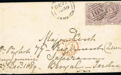 Great Britain Stamps Used in Jamaica Imperial Issues used at the Post Towns after the arrival o...