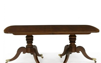 Henredon, Federal Style Carved and Inlaid Mahogany