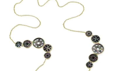Ippolita Onyx and Mother of Pearl Long Necklace