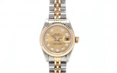 Lady's Stainless Steel and 18KT Gold Oyster Perpetual Datejust Watch, Rolex