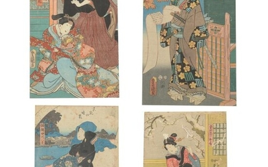 Large Group of Japanese Woodblock Prints.