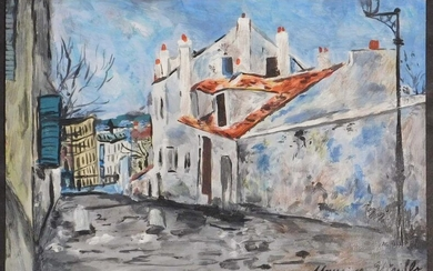 MAURICE UTRILLO, ATTRIBUTED/ MANNER OF: VIEW OF HOUSES STUDY