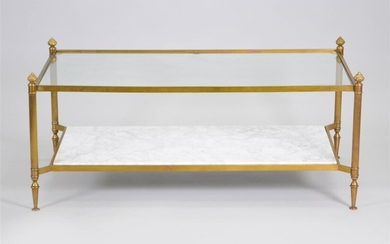 NEOCLASSICAL STYLE BRASS COFFEE TABLE