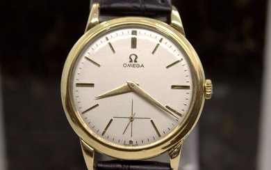 """Omega - Curved Lugs 14K Solid Gold cal.266 - """"NO RESERVE PRICE"""" - Men - 1901-1949"""