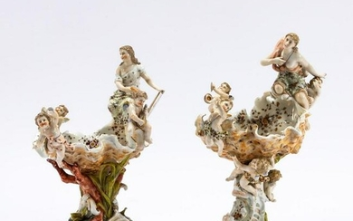 PR., GERMAN FIGURAL SHELL-FORM SWEET MEAT DISHES