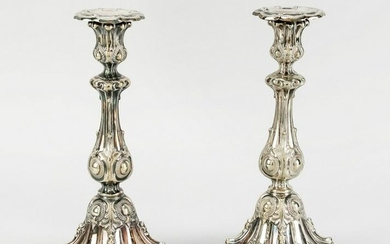 Pair of candlesticks, German, 19th