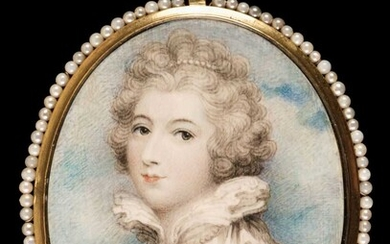 Plimer (Andrew, 1763-1837, attributed to). Portrait miniature of a young lady
