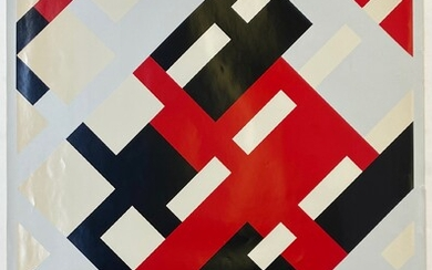 STRUYCKEN, Peter (1939-). (Abstract composition in white, red & black)....