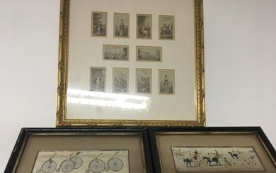 Two framed Victorian woven silk pictures by Thomas Stevens, ...