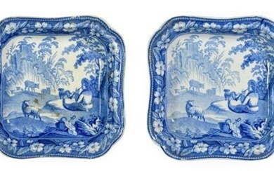 A Pair of Staffordshire Pearlware Vegetable Tureens and Covers, circa...