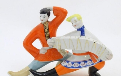 A USSR / Ukrainian model of two dancers with a Russian