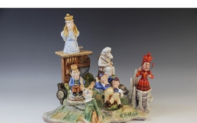 A set of six Bronte Porcelain Limited Edition 'Through the L...