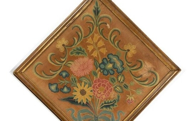 AMERICAN CREWEL-WORK EMBROIDERED PICTURE