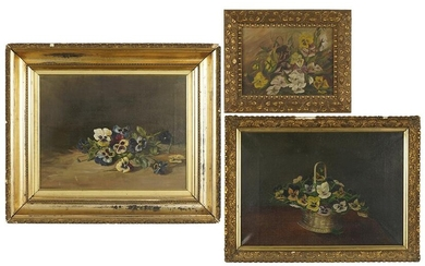 Artists Unknown (19th/20th Century) Flowers.