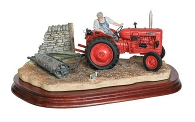 Border Fine Arts 'Turning With Care' (Nuffield Tractor), model No....