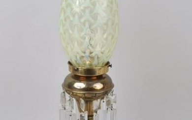 Brass & Marble Whale Oil Lamp