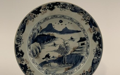 Chinese Blue and Copper Red Dish