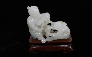 Chinese Jade Carved Two Boys