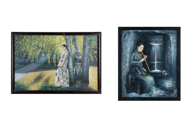 Chinese Oil Painting of Girl