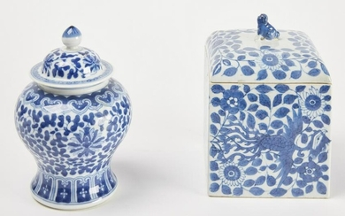 Chinese Porcelain Covered Jar and Box