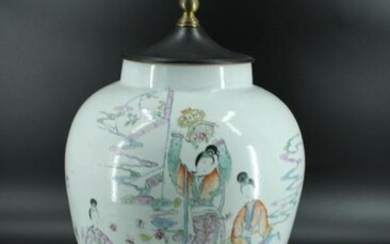 Chinese Porcelain Painted Vase Table Lamp