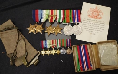 Collection World War 2 service medals including: 1939-45 Star,...