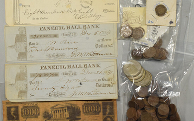 Collection of U.S. Coins, U.S. Currency, Foreign Coins, and Foreign Currency