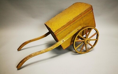 Early 20th C. hand painted child's cart. { 43 cm H x 80 cm L...