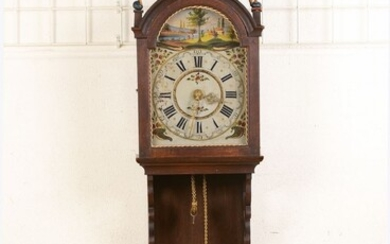 Frisian Staartclock, Middle of 20th c., wood housing...