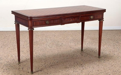 MARQUETRY INLAID CONSOLE DINING TABLE 1945