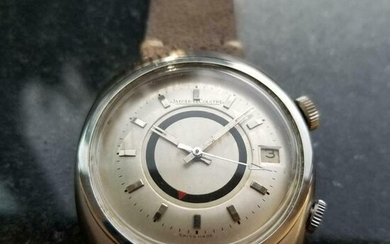 Mens Jaeger LeCoultre Memovox 38mm Automatic w/Date &
