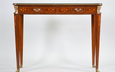 NEOCLASSICAL STYLE INLAID MAHOGANY SIDE TABLE