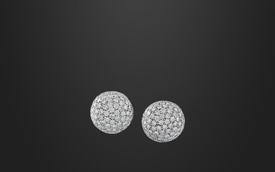 PAIR OF DIAMOND AND GOLD EARRINGS