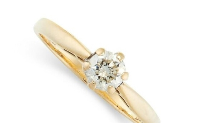 SOLITAIRE DIAMOND ENGAGEMENT RING in 18ct yellow gold