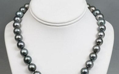 TAHITIAN BLACK CULTURED PEARL NECKLACE