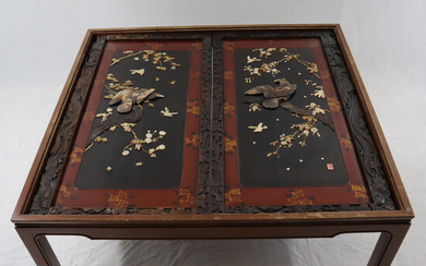 Unusual CHINESE TABLE with inlays.