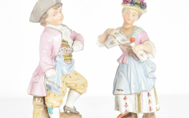 VOLKSTEDT, 1 pair of figures 19th century.