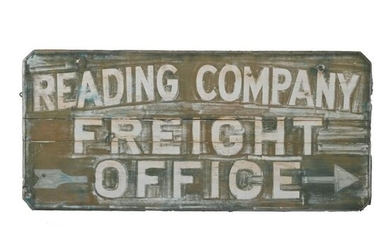 Vintage Signage, Reading Company Freight Office Painted