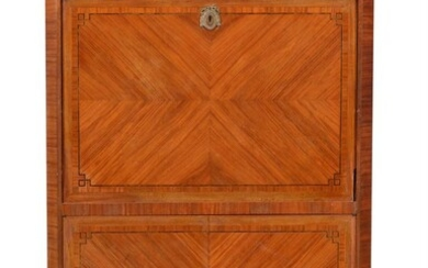 Y A kingwood, tulipwood and inlaid secretaire a abattant, in Louis XV/XVI transitional style