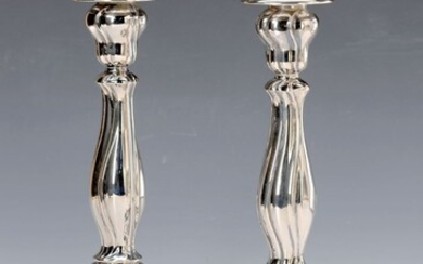 candlestick, Sweden, 800 silver, Baroque style, filled,...