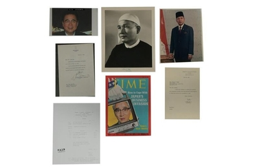 5 TLS Marcos, Signed Photos, Suharto & U Nu, Etc.