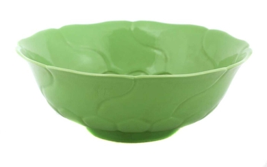 A Chinese green-glazed bowl