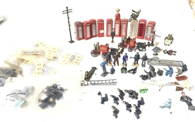 A Collection Of Dinky Figures. Spare Transfers. Lensey toys ...