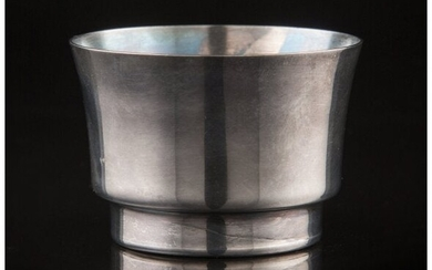 A Russian-Style Silver-Plated Beaker