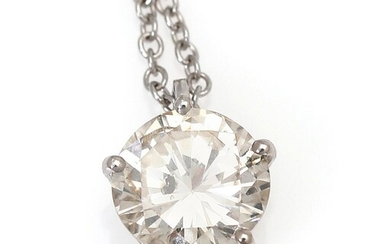 NOT SOLD. A diamond necklace with a pendant set with a diamond weighing app. 0.95 ct., mounted in 18k white gold. Top Cape/P. L. app. 42 cm. – Bruun Rasmussen Auctioneers of Fine Art