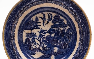 A late 19th century Allan Line blue and white soup bowl, by ...